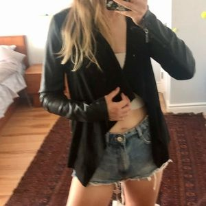 Ever New Leather Waterfall Jacket